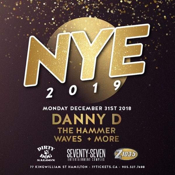 New Years Eve - Monday December 31st, 2018