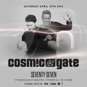 Cosmic Gate - Saturday, April 13th, 2019 at Club 77