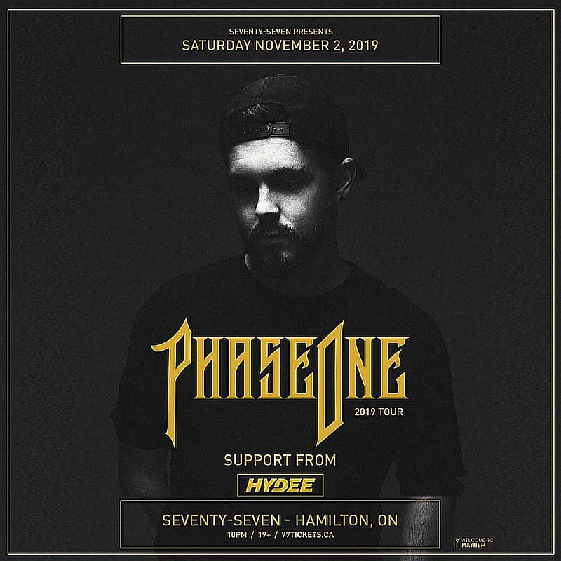 Phase One - Saturday November 2nd, 2019 at Club 77 in Hamilton, Ontario