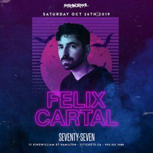 Felix Cartal at Paranormal (Halloween) - Saturday October 26th, 2019 at Club 77 in Hamilton, Ontario